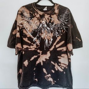 Pirates Skull Bleached Tie Dye T-Shirt